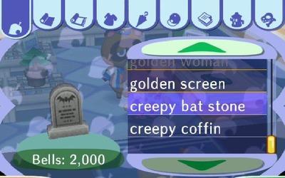 creepy bat stone