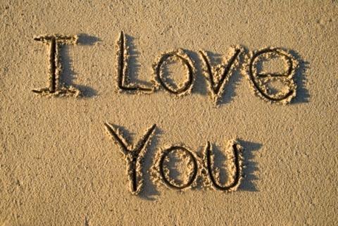 砂に書いたI Lov You