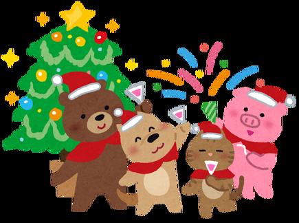 いらすとや 動物たちのクリスマス