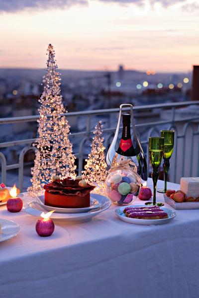 クリスマス ベランダでディナー 2015.12.15