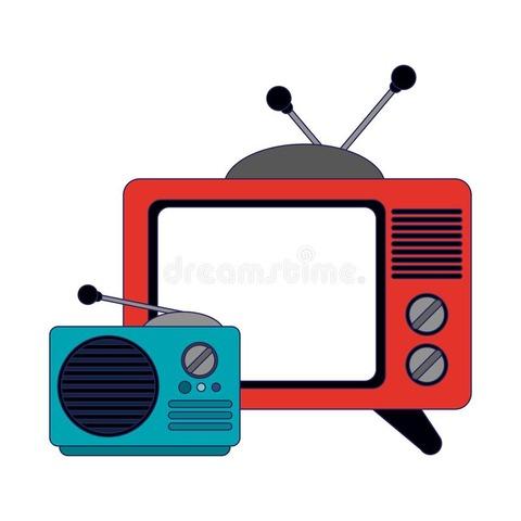 赤いテレビ&小さな青いラジオ