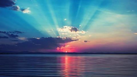海 ご来光美しい20140709
