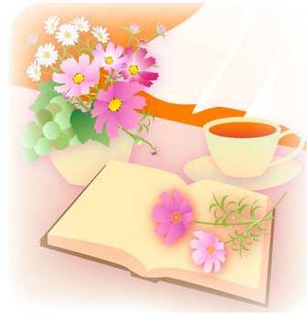 文化の日窓辺に本と花と珈琲20141102