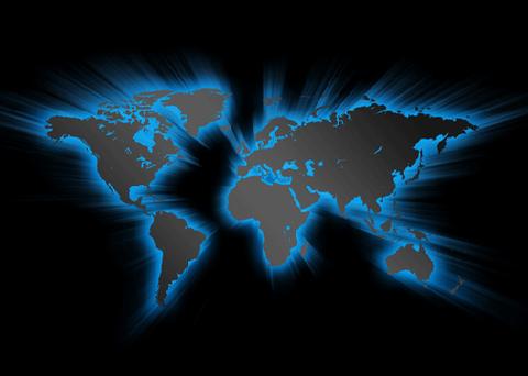 綺麗なブルーの世界地図