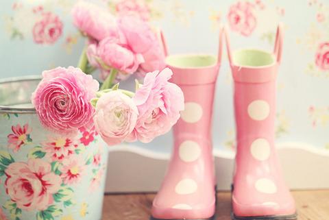 ピンク水玉長靴など2014330