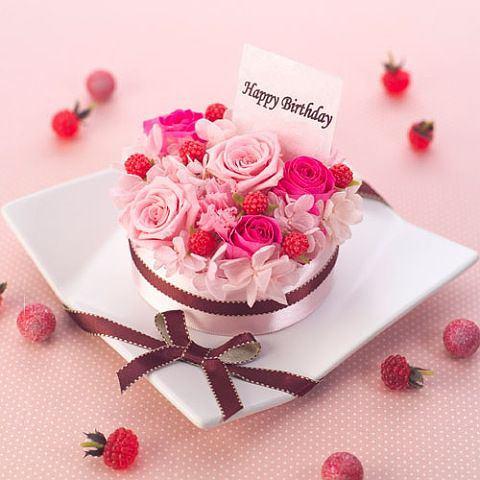 誕生日ケーキピンク20140702