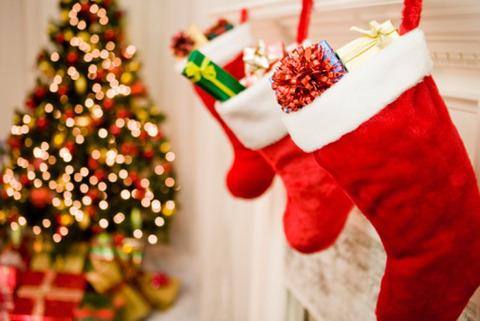クリスマス サンタの靴のお菓子入れ