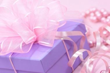 プレゼント紫の箱