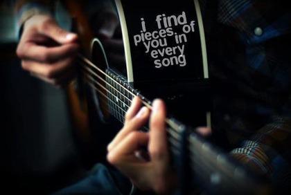 ギターにアルファベット