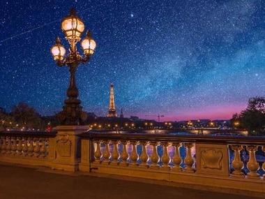 星空と洒落た橋