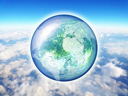resize雲の上のブルーな地球