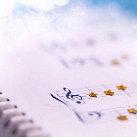 楽譜星の音符