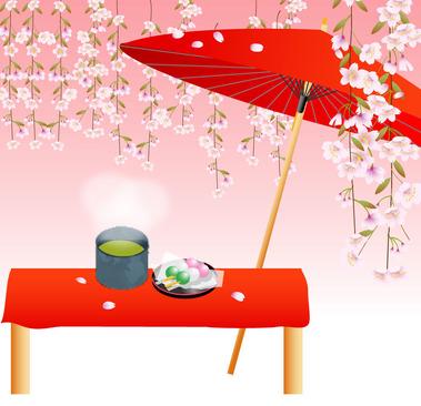 桜茶屋イラスト