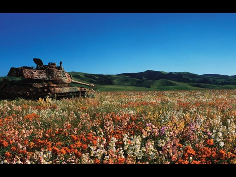 戦車と青空