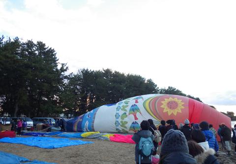 熱気球琵琶湖横断j