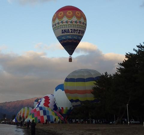 熱気球琵琶湖横断m
