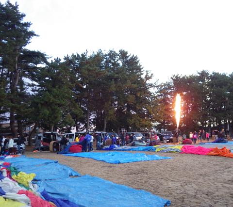 熱気球琵琶湖横断i