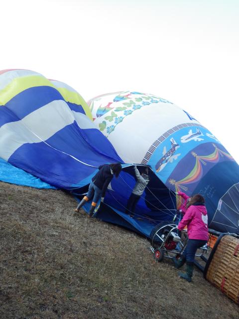 熱気球琵琶湖横断k