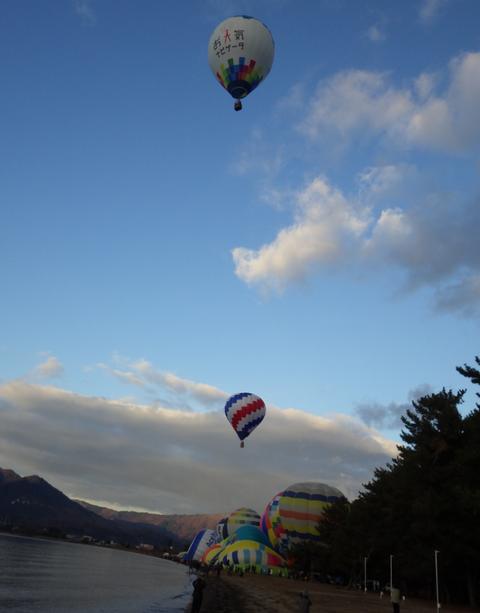 熱気球琵琶湖横断o