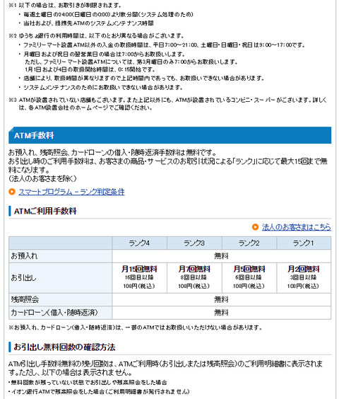 住信SBIネット銀行出金手数料2