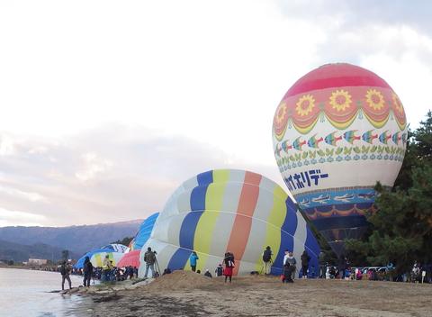 熱気球琵琶湖横断l