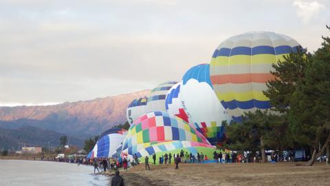 熱気球琵琶湖横断n