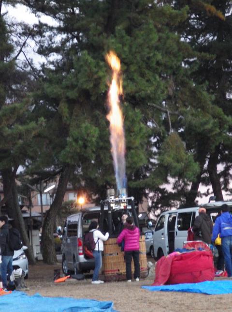 熱気球琵琶湖横断g