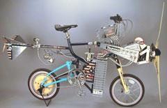 風力発電自転車