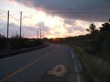 石垣島・平久保台に行く途中の朝日2