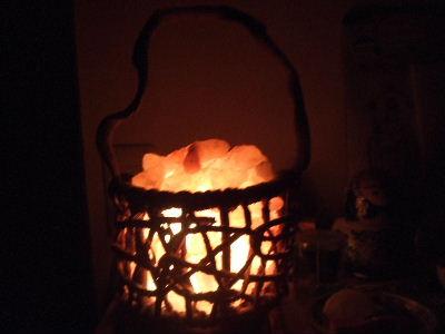 091114岩塩ランプ点灯中