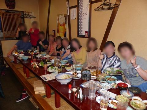 魚介メインのトレーニング後の食事会