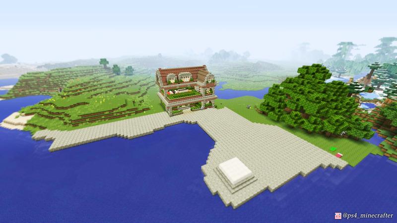 整地した入江に家を一軒建てました
