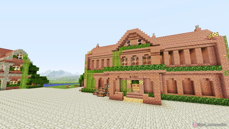 横浜赤レンガ倉庫をモチーフにして、港に倉庫を建築