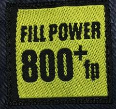 800フィルパワー