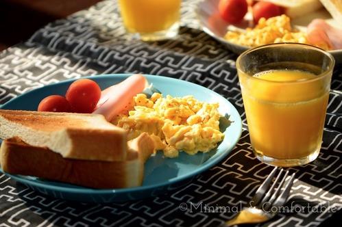 ティーマターコイズで朝食プレート