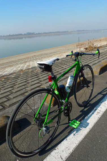 [ロードバイク]冬装備万全で渡良瀬遊水地へ