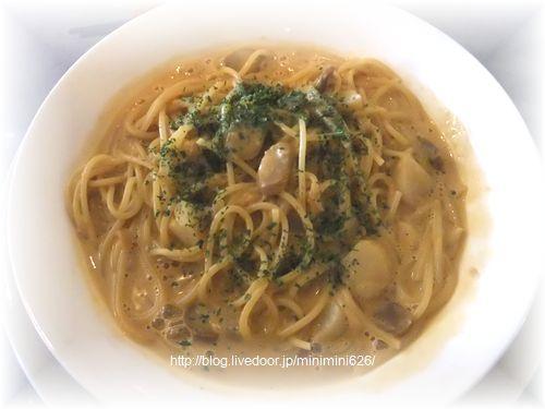 ほたて貝柱のスパゲッティ えび風味ソース③-1