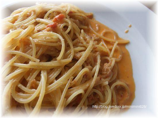 ワタリガニのトマトソーススパゲッティー②-1