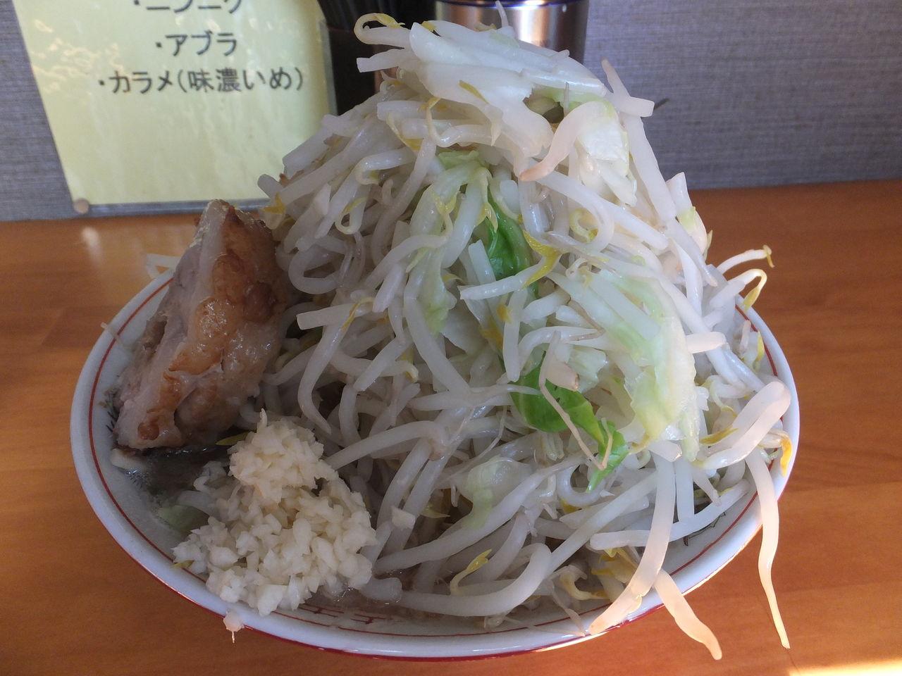 小ラーメン豚入り(野菜増・ニンニク)①