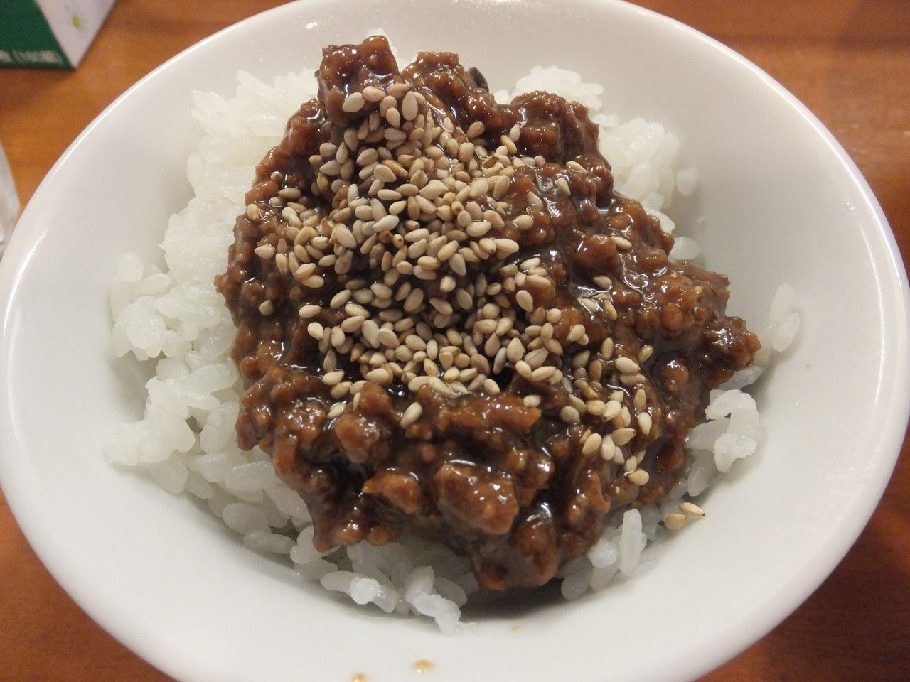 肉みそご飯ミニ③