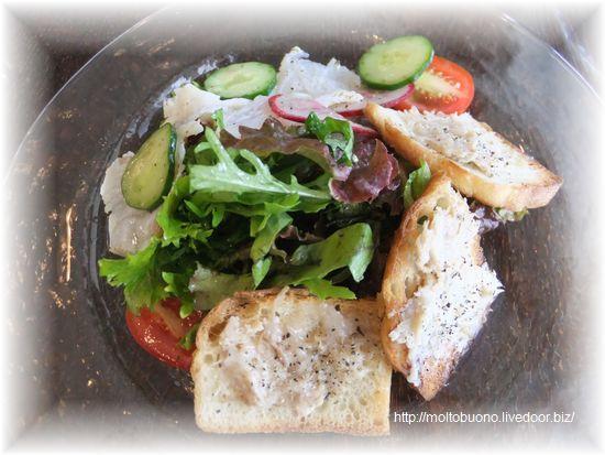 前菜『白身魚(スズキ)の焼きマリネサラダ&リエット』-1