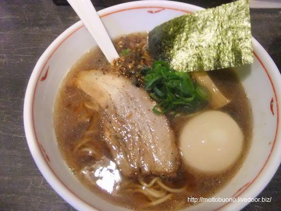 醤油煮干しらぁ麺&味付玉子①-1