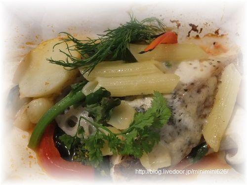 白身魚(真鯛)の紙包み焼き⑦-1