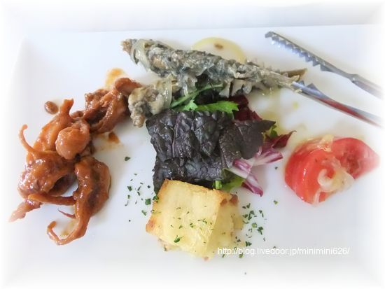 パスタランチ 前菜の盛合せ⑥-1