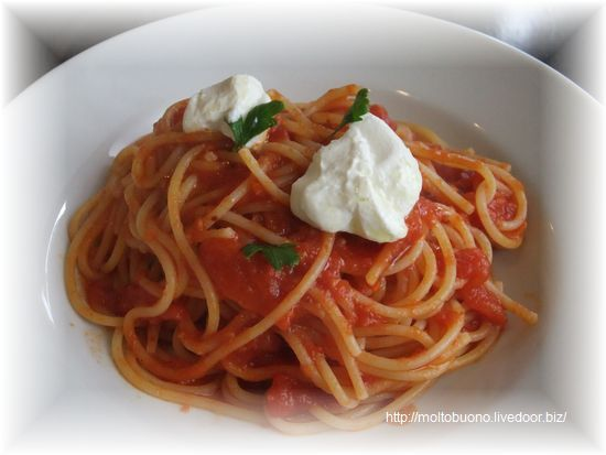 リッコタチーズのトマトスパゲッティー⑤-1
