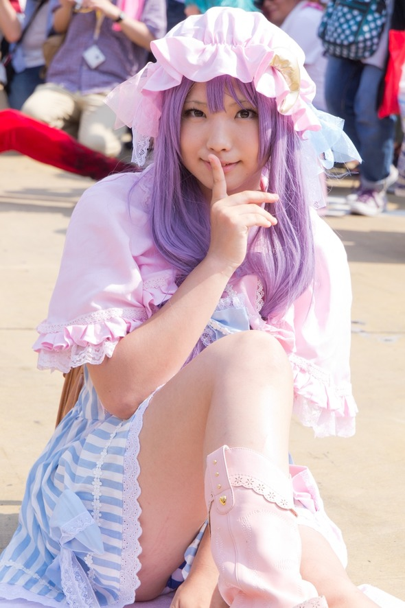 4 cosplay upskirts in 1 soul eater sailor moon and unkonwn 9