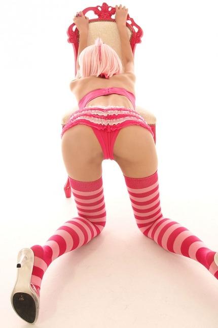 縞々パンツ・ソックス エロ画像 (12)