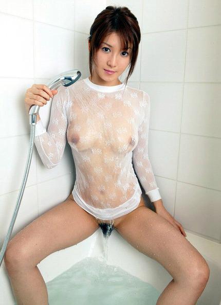 透け乳首に透けまんこ エロ画像 (6)