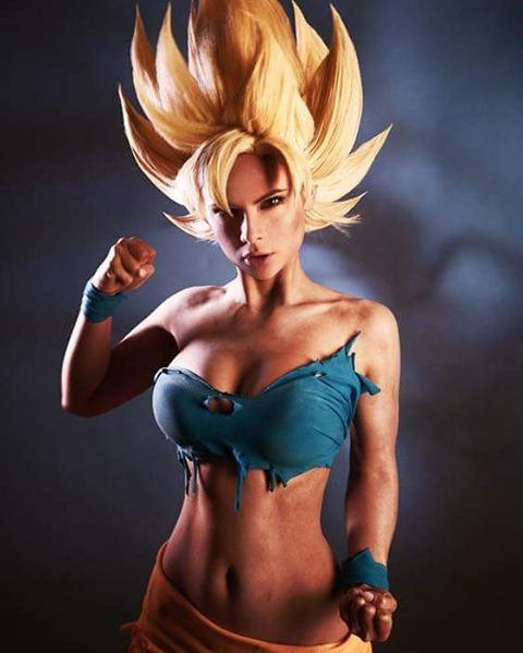 #dragonballz #goku Model @jannetincosplay  #cosplay #dbz #supersaiyan #over9000