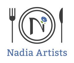 Nadia Artist ロゴ 縦